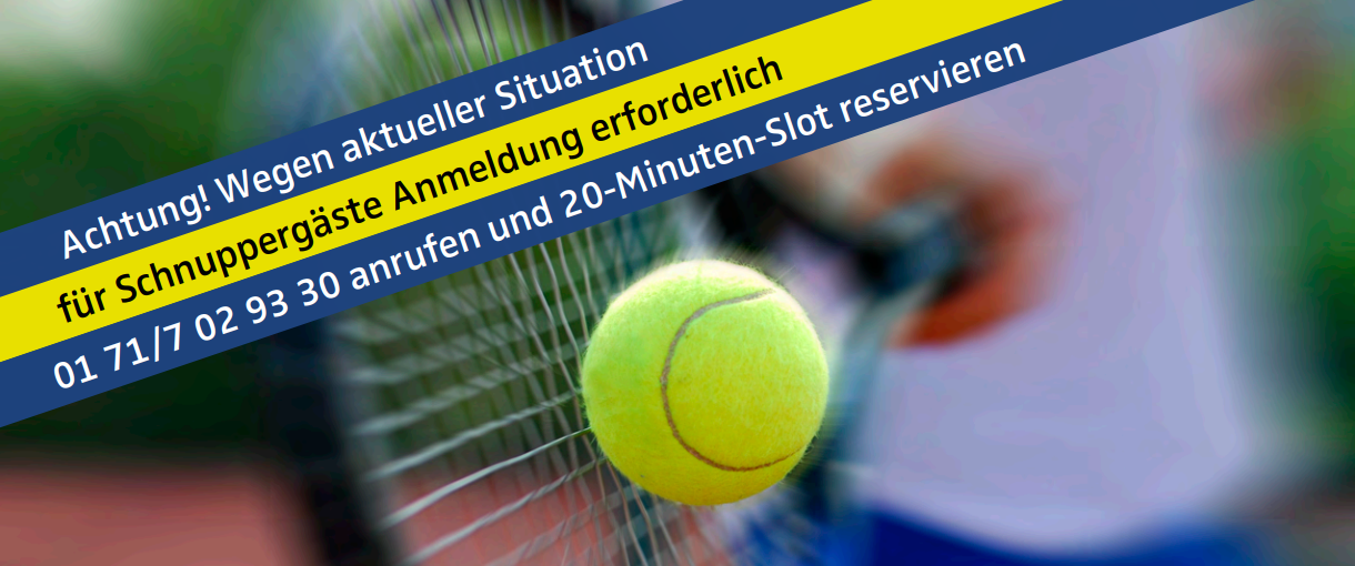 TENNIS TESTEN am 25. April